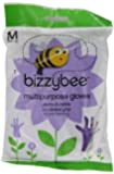 Bizzybee Multi Purpose Rubber Gloves Medium (Pack of 6, total 6 pairs of gloves)