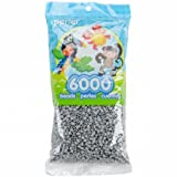 Mini Perler Beads 6,000/Pkg-Grey (Color: Gray, Tamaño: 6,000 Pieces)