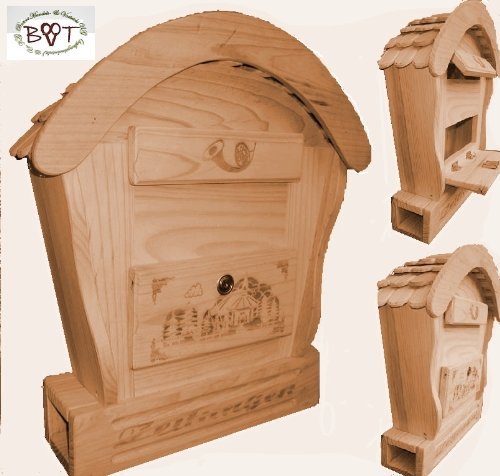 hbk rd natur vogelhaus briefkasten mit holz deko aus holz no 1 holz natur hell ideal f r. Black Bedroom Furniture Sets. Home Design Ideas