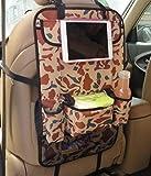 Yacool® múltiples funciones del coche del asiento trasero Organizador con almacenaje del recorrido de la tableta de bolsillo-Multi-bolsillo bolsa de basura de la bolsa del respaldo del asiento del vehículo protector de la cubierta--Camo blanco
