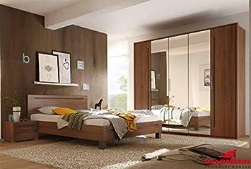 Schlafzimmer komplett 4-teilig 54907 michigan nussbaum / lava