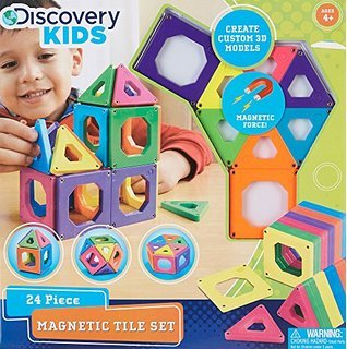 Discovery-Kids-24-Piece-Magnetic-Tile-Set