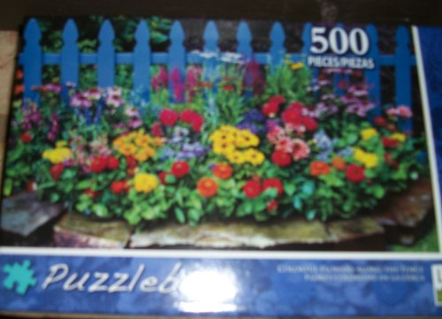 Puzzlebug Puzzles 500 pc Colorful Flowers Along Fence