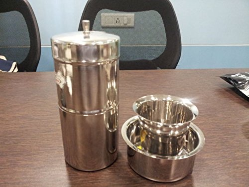 iStoreDirect Combo of Stainless Steel South Indian Filter Coffee Drip Maker + Davra Vati Set By iStoreDirect!