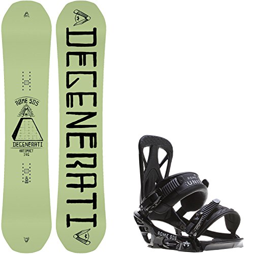 Rome Artifact 146 Mens Snowboard + Rome United Bindings - Fits US Mens Boots Sizes: 7,8,9,10 (Snowboard Package 146 compare prices)