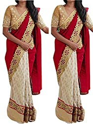 Gokul Vastra Saree (Pack of 4) (P-KT-3017_4_Red White)