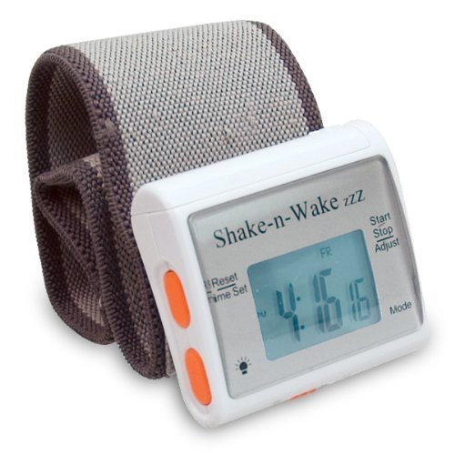 Shake n Wake ZZZ Vibrating Alarm Clock Watch