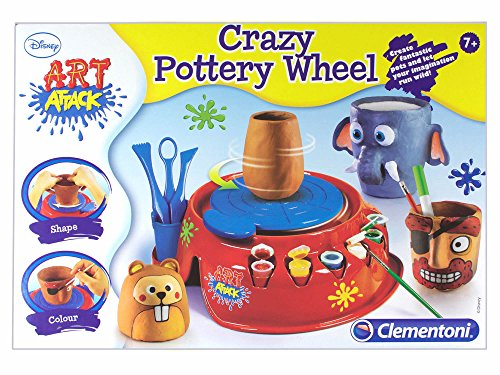 art-attack-crazy-kids-childrens-pottery-wheel-studio-set-age-7-battery-or-ac-adapter-electric-operat