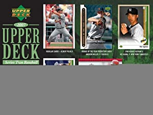 2007 Upper Deck Baseball Series 2 Factory Sealed Hobby Box (1 Autograph, 2 Jersey Cards, 4 Rookies per pack)