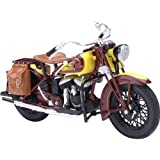 New Ray Indian 1934 Sport Scout Replica Motorcycle Toy - Brown/Yellow / 1:12 Scale