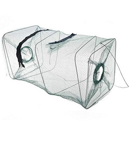 Crab Fish Crawdad Shrimp Minnow Fishing Bait Trap Cast Dip Net Cage Fishing Net Mesh Shrimp Traps Foldable Zips (Crab Trap Hotel compare prices)