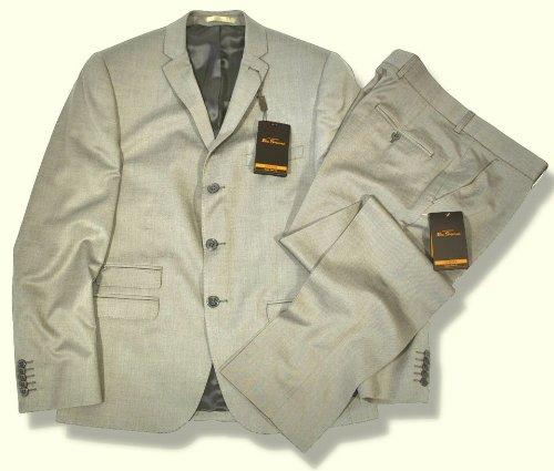 Ben Sherman Slim Fit 3 Button Mod Suit Tonic Silver 38 chest / 30 waist