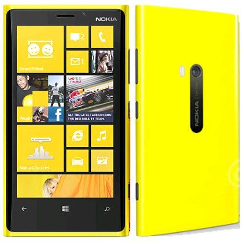 Nokia Lumia 1020 RM-877 32GB AT&T Locked Windows Cell Phone – Yellow image