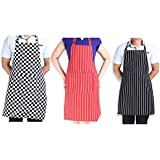 Generic Red Stripe : Stripe Bib Apron With 2 Pockets Chef Waiter Kitchen Cook New Tool, Novelty Cooking Gifts,...