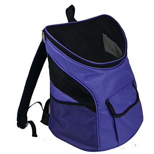 Jh Pet Carriers Airline Approved Backpack Front for Small Medium Dogs and Large Dog 20lbs (14.5″*10.6″ * 15.7″, Lavender Purple)