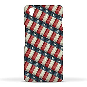 FUNKYLICIOUS OnePlus X Back Cover Retro Style Texas State Flag Pattern Design (Multicolour)