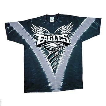 Philadelphia Eagles Logo V Tie Dye T-shirt by Liquid Blue