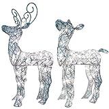 Spun Glitter Miniature Baby Deer Sculpture