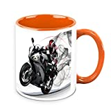 HomeSoGood Amazing Wheelie By Automobile White Ceramic Coffee Mug - 325 Ml