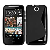 Kwmobile TPU CASE for HTC Desire 310 S Line design Black - Stylish designer case made of premium soft TPU
