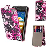32nd® Design flip PU leather wallet case cover for Samsung Galaxy S2 Sii i9100 + Screen Protector and Cloth - Gerbera