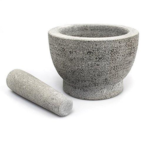 Mortar With Pestle Ø18cm 600 ml Natural Stone 5.2 kg