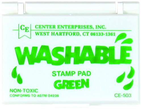 Center Enterprise CE503 Washable Stamp Pads, Green