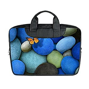 INSTALL AND EASY TO CARRY Wear& Slim &Dapper Butterfly Wallpapers Custom Waterproof Nylon Bag for Laptop 13Inches(Twin sides)
