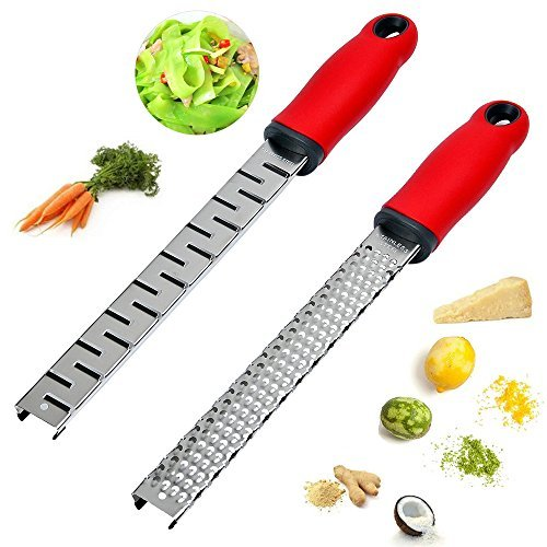 Coarse Grater,Cheese Zester with 304 Stainless Steel for Chocolate,Lemon,Ginger ,Vegetables by Sonyabecca