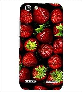 PrintDhaba Strawberries D-5981 Back Case Cover for LENOVO VIBE K5 PLUS (Multi-Coloured)