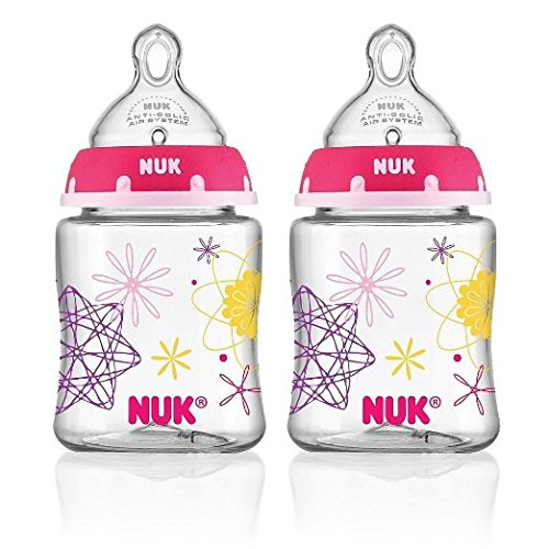 NUK Advanced Orthodontic Bottle in Assorted Colors, 5-Ounce, 2 Count - 1