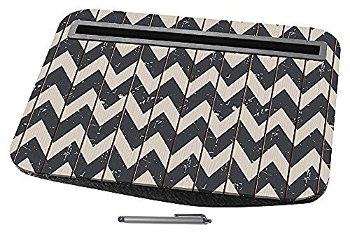 Top Black White Chevron Cushion Lap Tray Desk Tablet  Assorted Stylus Color Fun Electronic Birthday Present Idea Him Her Boyfriend Son Daughter Teen Girl Dad Him Best Unusual Cool Stocking Stuffer (Desk Fan Teal compare prices)