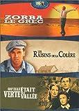 echange, troc Qu'elle était verte ma vallée / Les Raisins de La Colère / Zorba Le Grec - Tripack 3 DVD