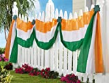 Collections Etc - St. Patricks Day Outdoor Fence Bunting
