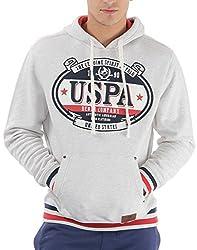 U.S.Polo.Assn. Men's Cotton Sweatshirt (8907259138718_USSS0498_XXL_Ecru Mel)