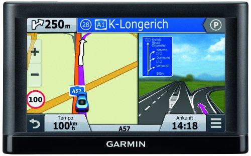 Garmin Nuvi 55LMT Navigatore, 5″, Auto Europa Centrale, 22 Paesi con Aggiornamento Mappe a Vita e Infotraffico TMC Incluso, Nero