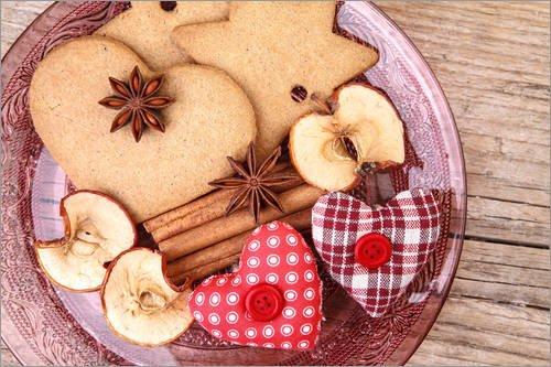 Reproduction sur toile 60 x 40 cm: Gingerbread Cookies 14 de Nailia Schwarz - Reproduction prête à accrocher, toile sur châssis, image sur toile véritable prête à accrocher, reproduction sur toile...