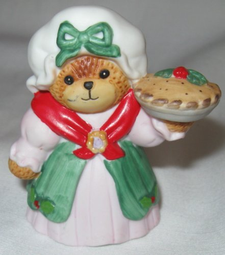 1987 Enesco Lucy Rigg Teddy Bear Holding a Pie
