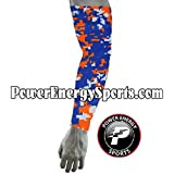 Baseball Sports Compression Arm Sleeve - Digital Camo Gators Orange Royal White