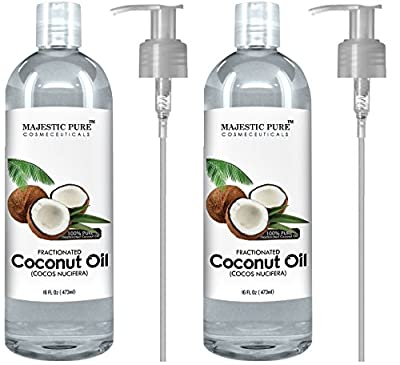 Majestic Pure Fractionated Coconut Oil, 16 Oz