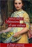 echange, troc Athénaïs Michelet - Mémoires d'une enfant
