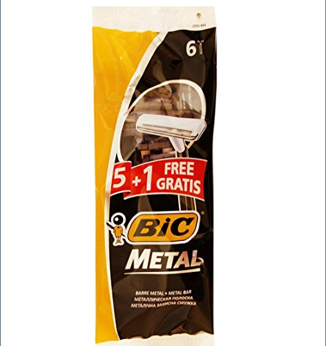 Bic-Metal-Quality-Disposable-Mens-Shaving-Razors-Best-Single-Blade-5-count-1-Free
