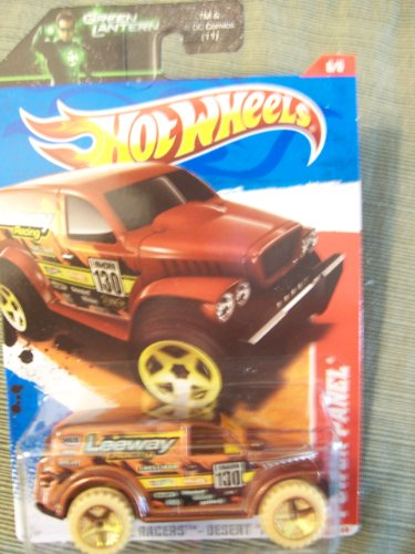 Hot Wheels 2011 Thrill Racers Desert Power Panel on Green Lantern Card