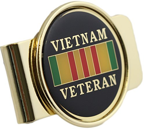 Vietnam Veteran Logo Money Clip Military Money Clip