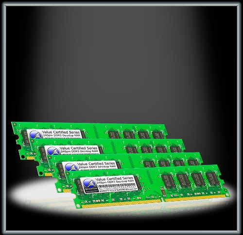 Quantum Technology Certified Spec 4GB 1GBx4 DDR3 PC3-10600 1333MHz RAM Remembrance DIMM Kit for Acer Aspire X3960 Series PT.SFF02.xxx