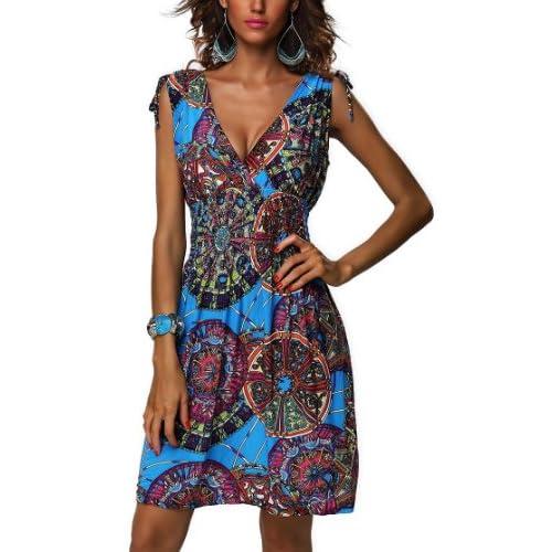 Ladies High Waist Short Ruffle Summer Dress