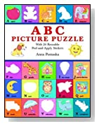 ABC Picture Puzzle: With 26 Reusable Peel-and-Apply Stickers (Dover Sticker Books)