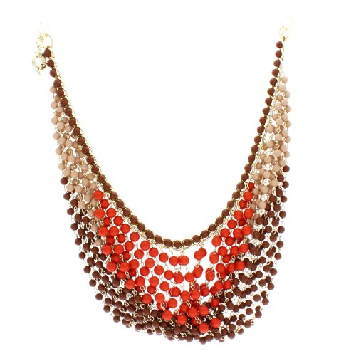 Marco Francisco Fall Colors Beaded Bib Necklace