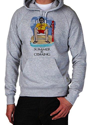 GameOfThrones Jon Snow In Iron Pool Party Chair Summer Is Coming Hoodie Custom Made Hooded Sweatshirt (XL)