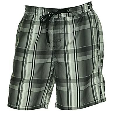 Calvin Klein Men's Retro Plaid Volley Swim Trunks